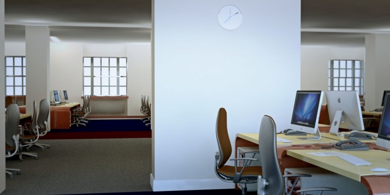 interior open plan office architectural visualisation A