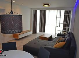 """Išnuomojamas modernus, naujai įrengtas ir jaukumą spinduliuojantis butas """"Veršvų slėnio"""" butų projekte."""